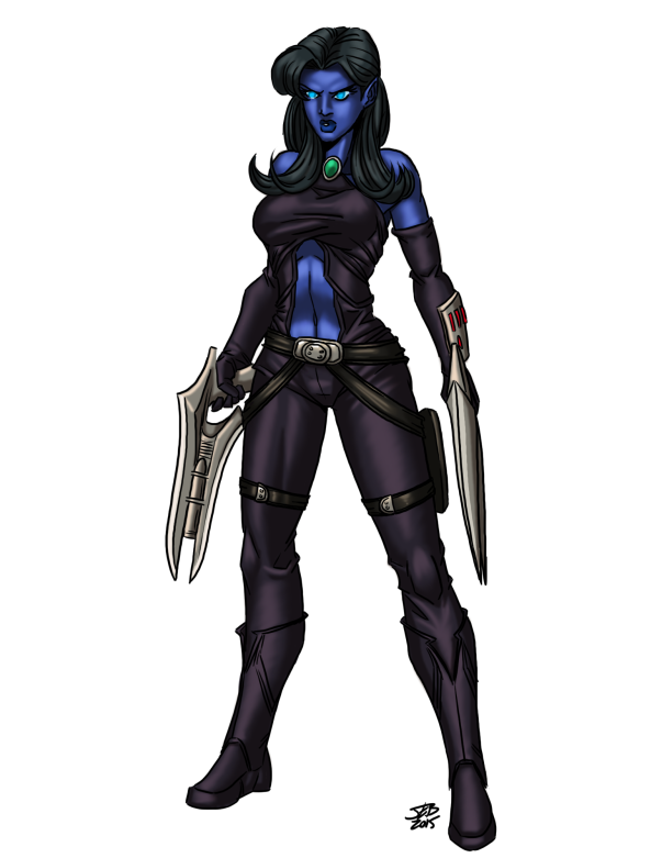 Female Alien Rogue-color