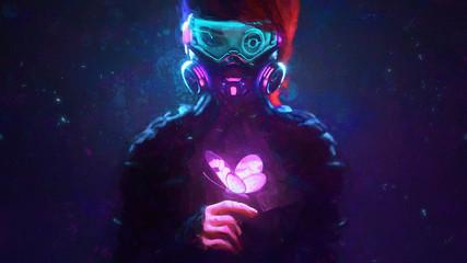 Cyberpunk Butterfly