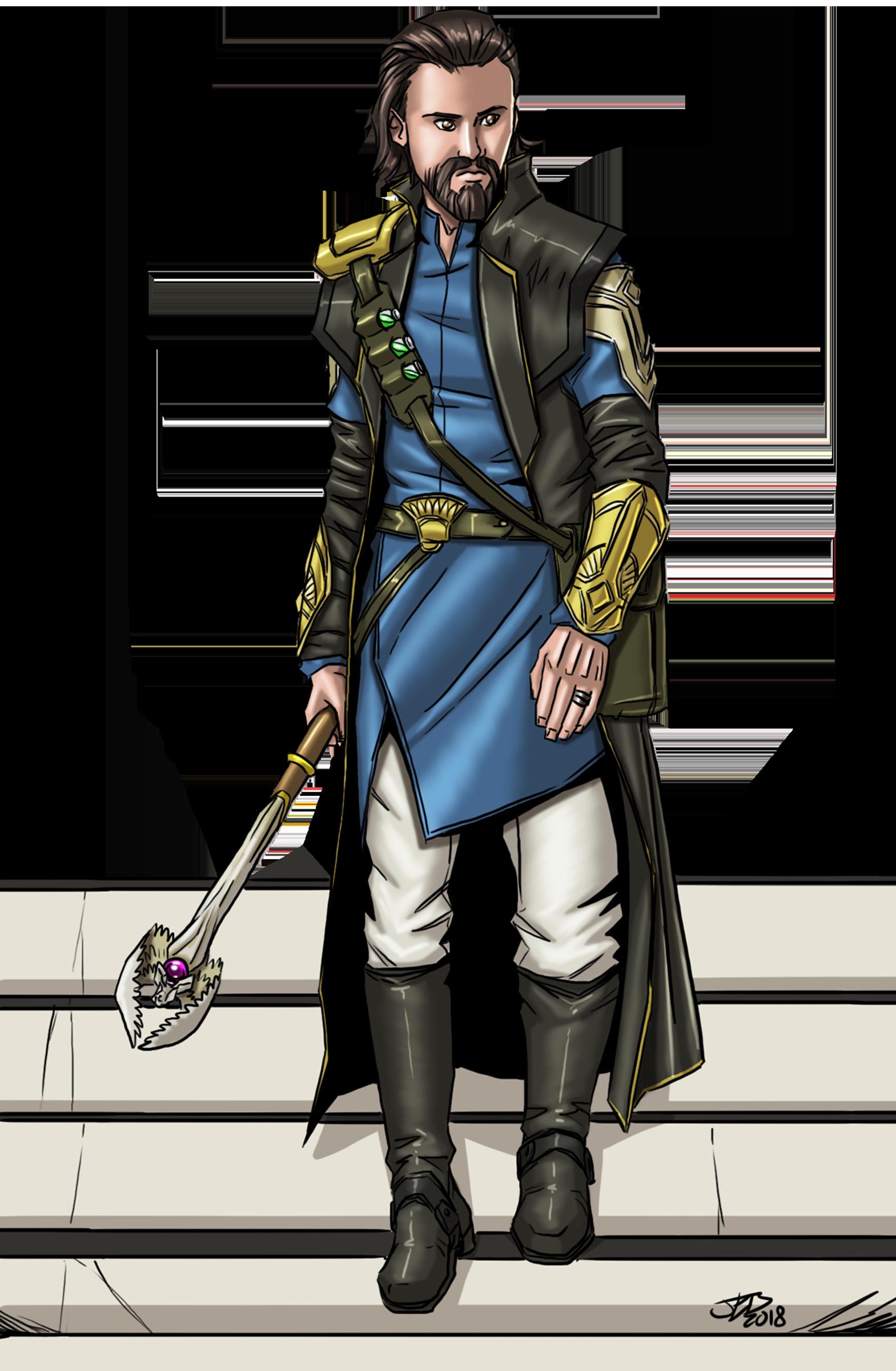 Male Human Battle Wizard color