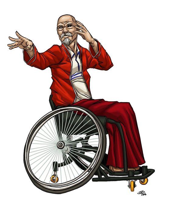 Male Psychic in Wheelchair color